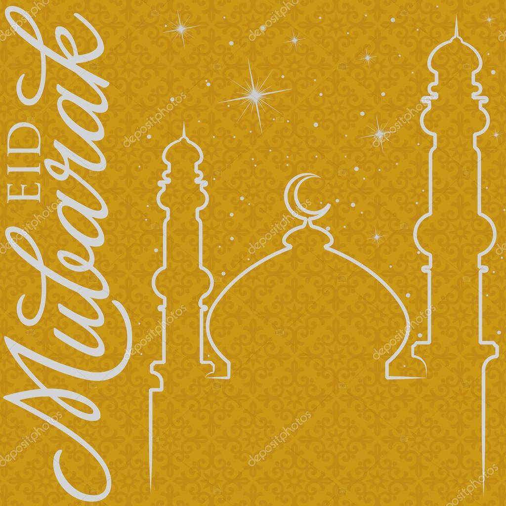 Hand drawn eid mubarak blessed eid greeting card in vector format hand drawn eid mubarak blessed eid greeting card in vector format stock vector kristyandbryce Image collections