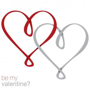 Infinity heart card