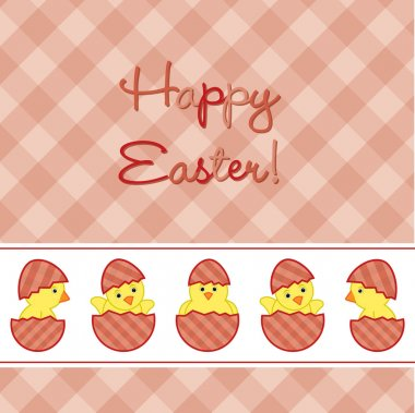 Baby Chicks Easter card in vector format.