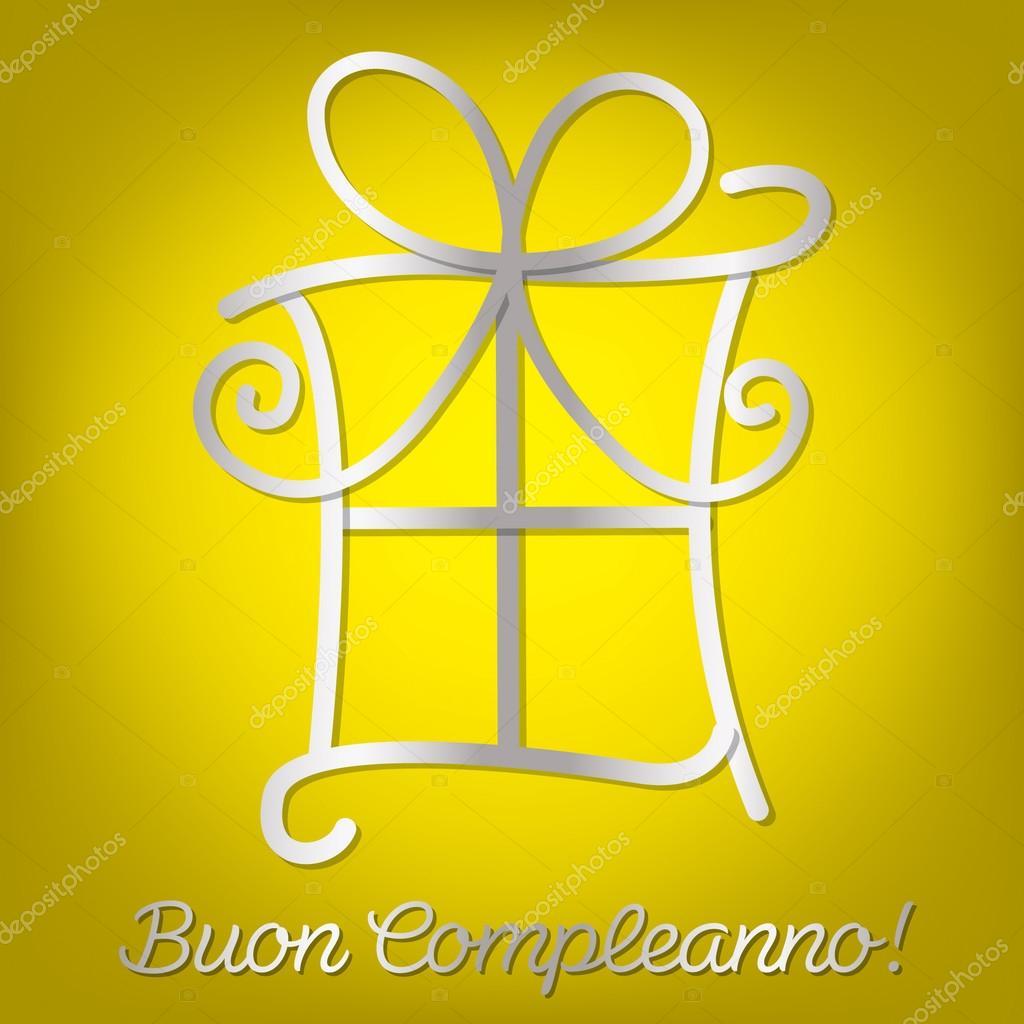 Carte Anniversaire Italien.Carte Brillante Joyeux Anniversaire Italien Image Vectorielle