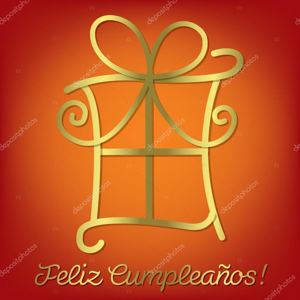 grattis spanska ljusa spanska Grattis på födelsedagen kort — Stock Vektor  grattis spanska