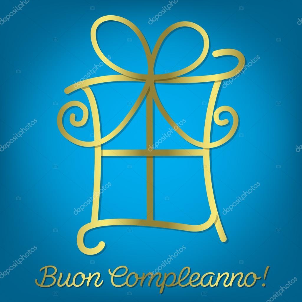 Extrem carte brillante joyeux anniversaire italien — Image vectorielle  PM24