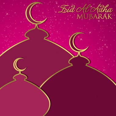 Mosque Eid Al Adha card