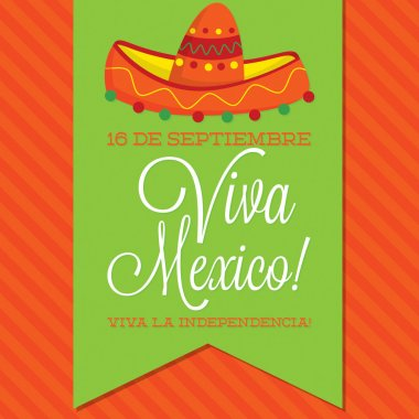 Retro style Viva Mexico card
