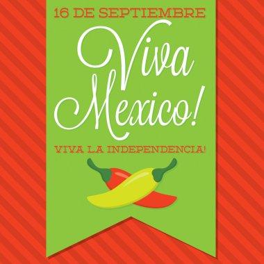 Retro style Viva Mexico card