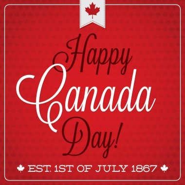 Happy Canada Day retro card