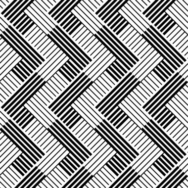 Pattern with line black and white