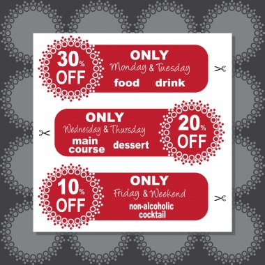 Daily coupons for restaurant