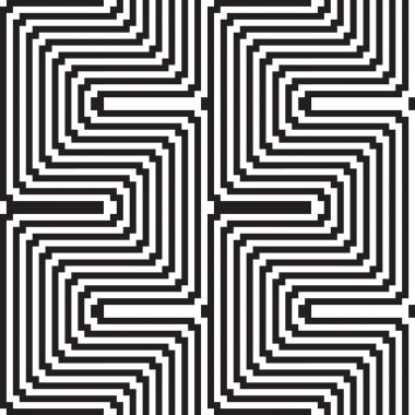 Pattern in black and white - optical illusion