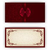 Elegantní vektor šablonu pro luxusní pozvání, karta