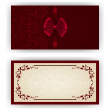 Elegant vector template for luxury invitation, card