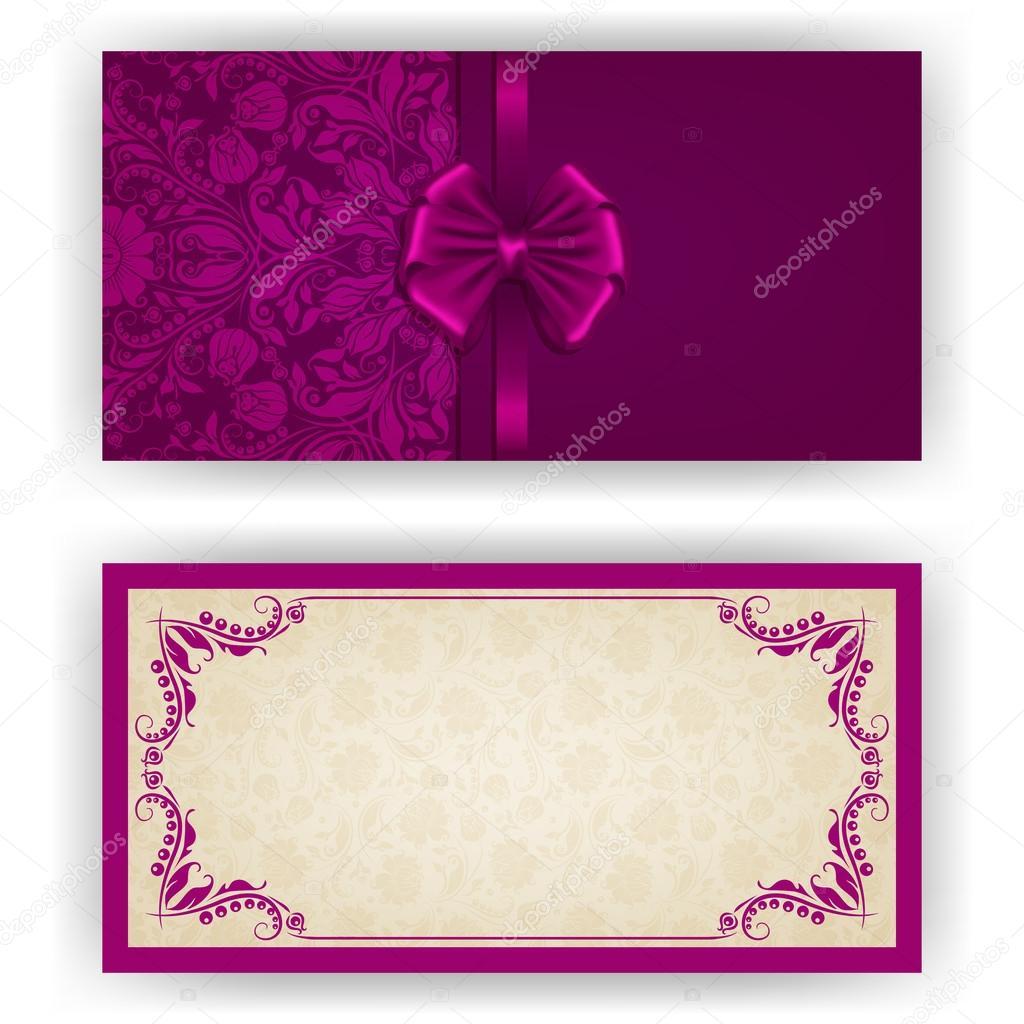 Vector Invitaciones Elegantes Plantilla De Vectores