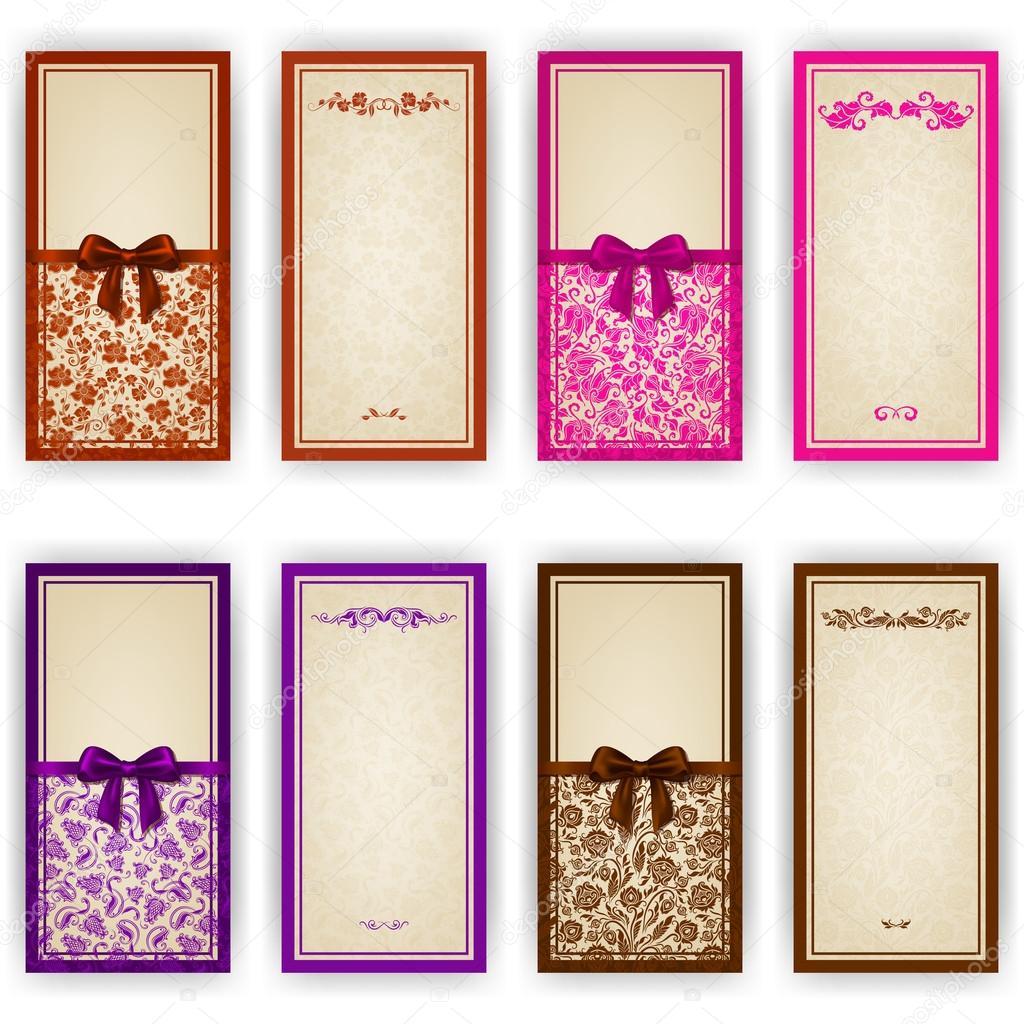 plantilla elegante de la tarjeta de invitación de lujo, — Vector de ...