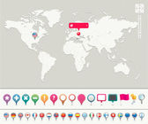 Fotografie World Map with Pins