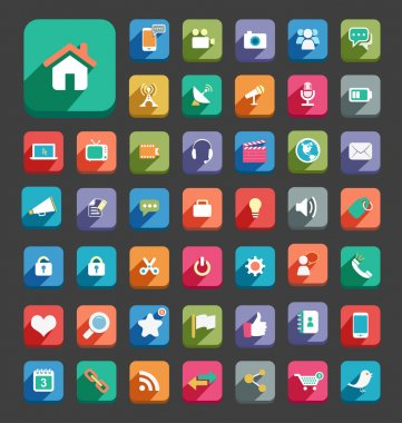 Long Shadow Icons
