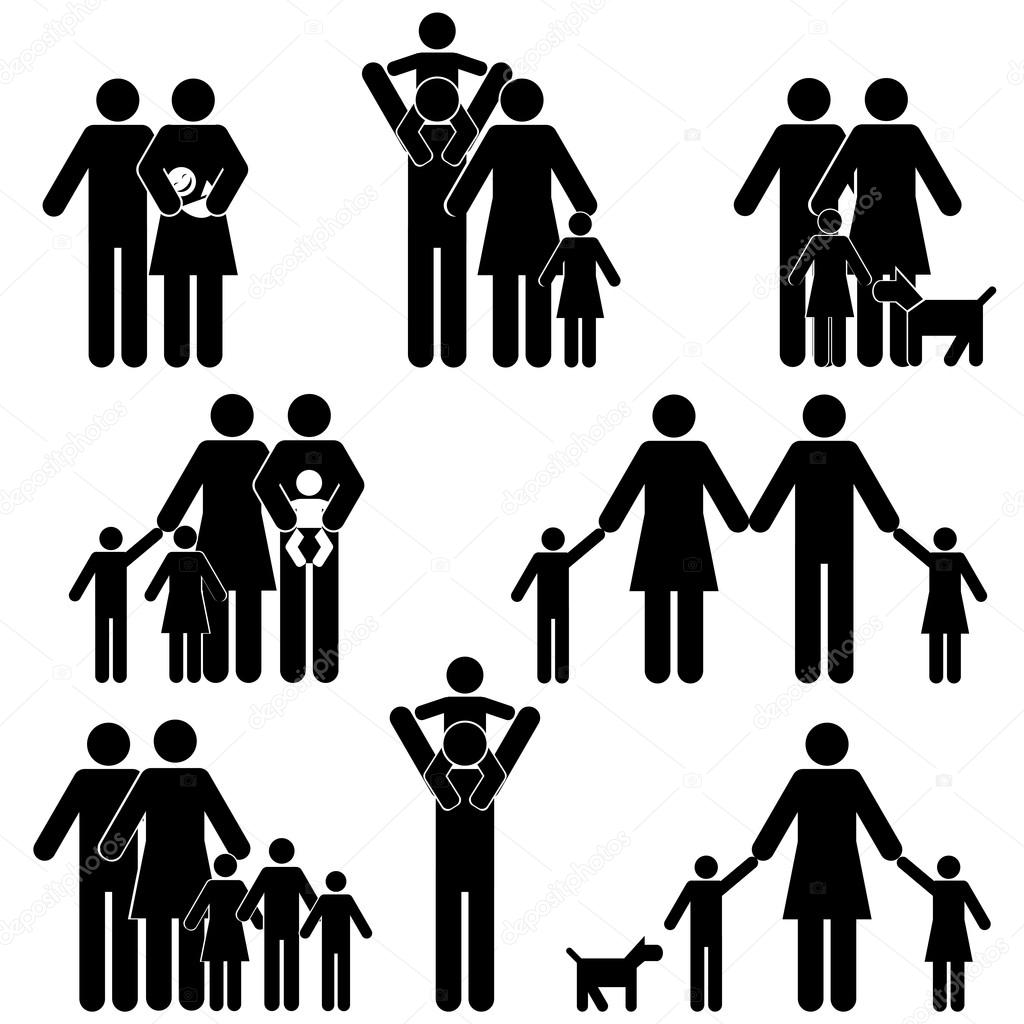 Familie Icon Set Stockvektor 169 Soleilc 25650695