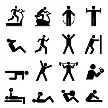 People exercising