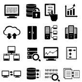 Fotografia set di icone grandi dati