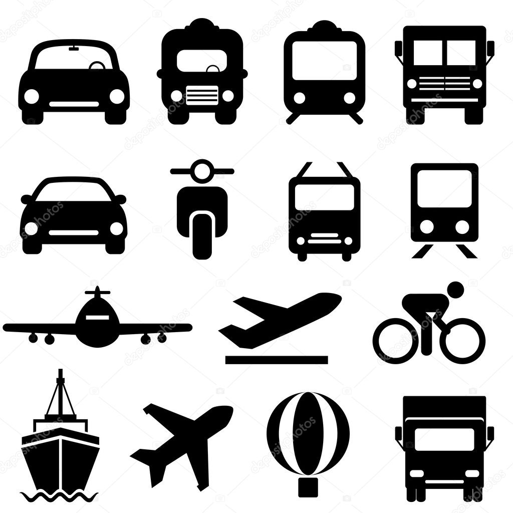 transportation icon set  u2014 stock vector  u00a9 soleilc  34323783