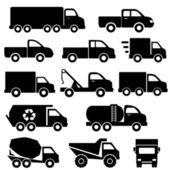 Teherautók ikonkészlete