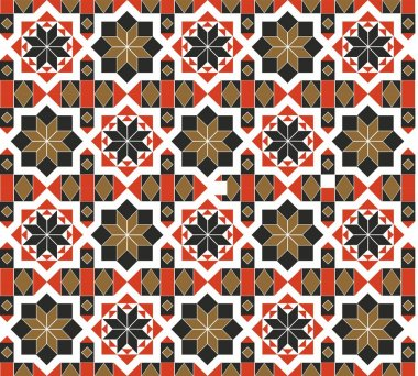 The geometric repeating patterns