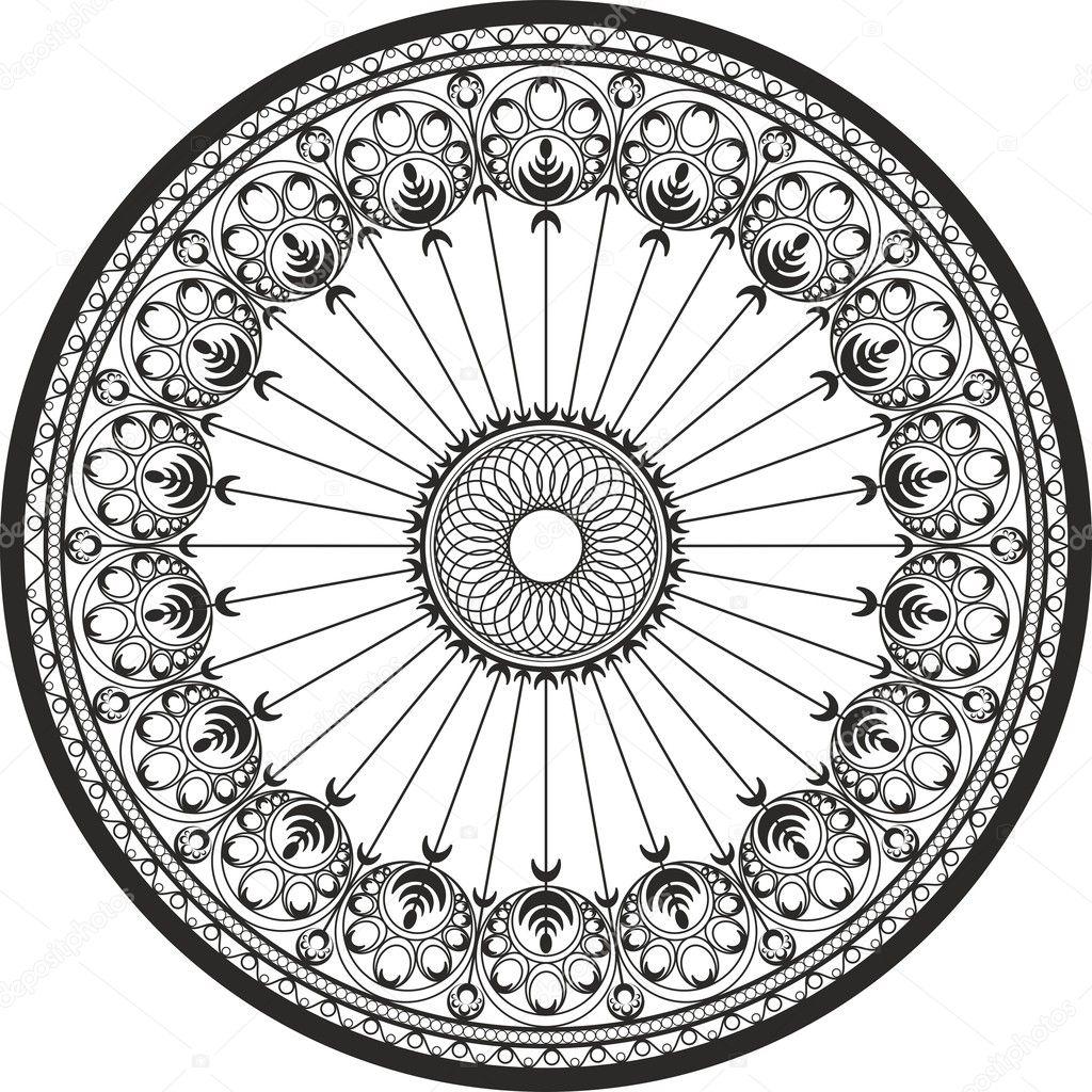ornamento en un círculo - acero fundido y adornos de hierro forjado ...