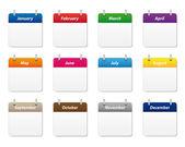 Photo Calendar icons set