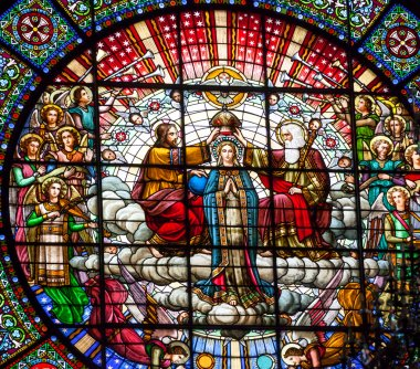 Stained Glass Jesus Mary Rose Window Monastery Montserrat