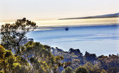 Fotografie Ölquelle Plattformen morgen Pazifik Landschaft Kanal islan