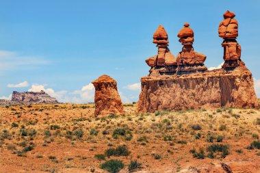 Three Sisters Hoodoos Goblin Valley State Park Rock Canyon Utah
