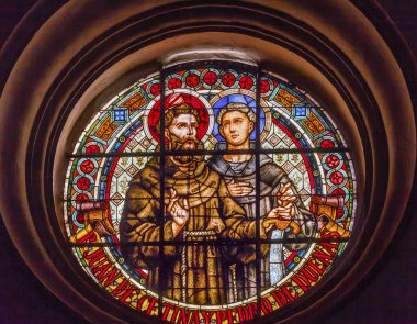 Saint Juan De Cetinas Saint Pedro De Duenas Stained Glass Basili
