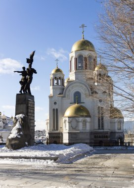 Monument to Komsomol of Ural, Church on Blood and Patriarchal Me