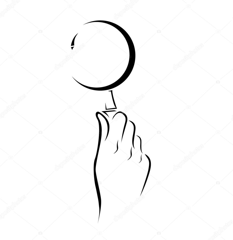 Hand magnifying glass Simple Symbol