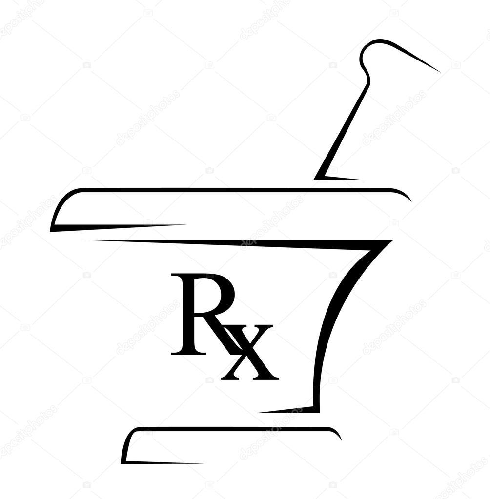 Medical Rx Simple Symbol Stock Vector Redrockerz99 39298825