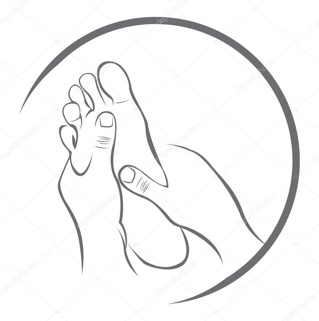 Stock Illustration Foot Massage on Inches To Feet And