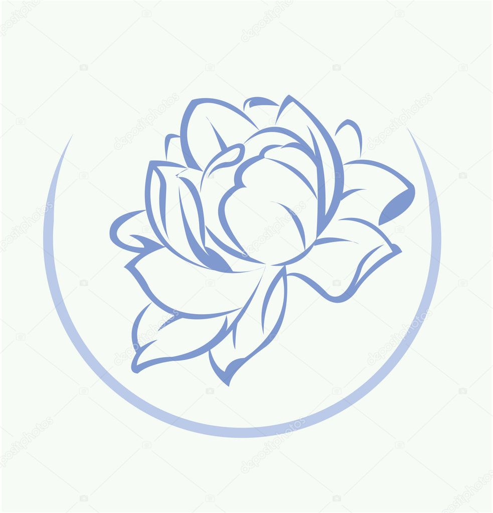 Lotus Flower Symbol Stock Vector Redrockerz99 45952147