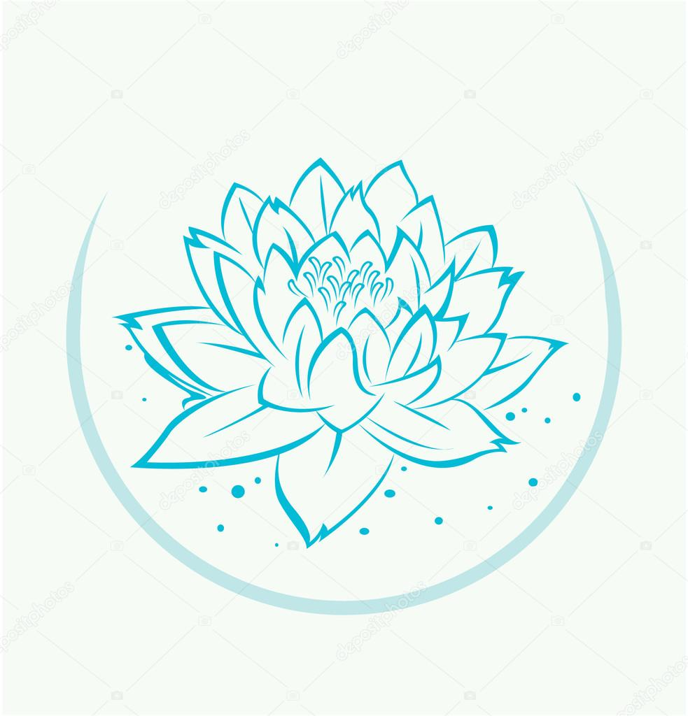 Lotus flower symbol stock vector redrockerz99 45952155 lotus flower symbol stock vector izmirmasajfo