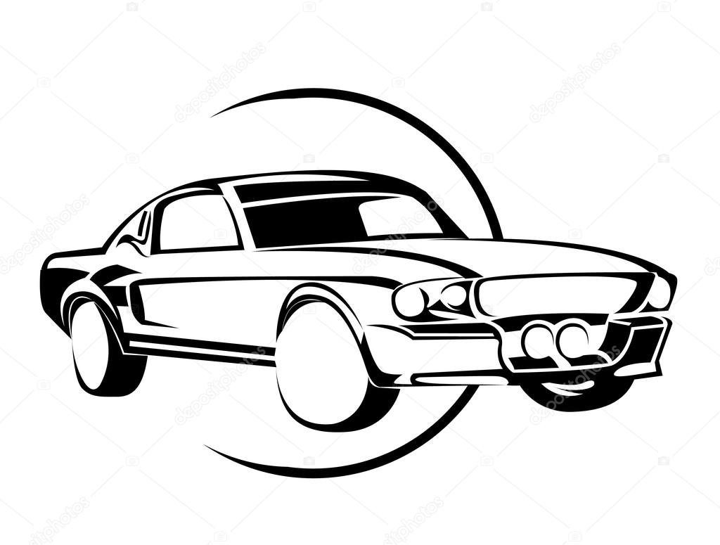 Old Muscle Car — Stock Vector © redrockerz99 #46986651
