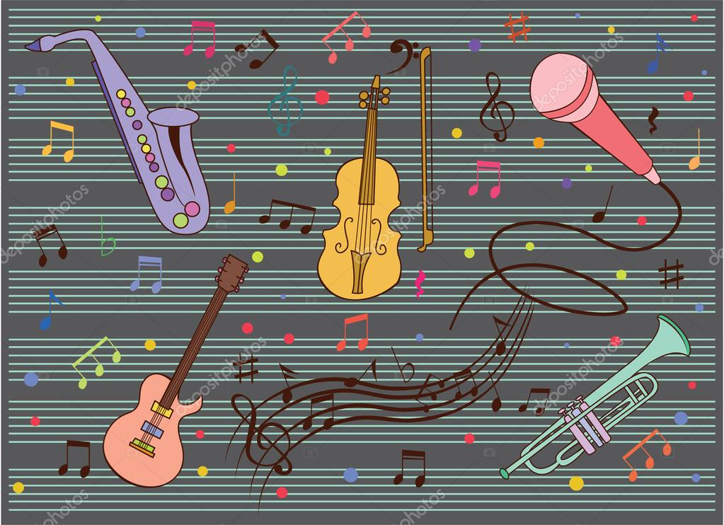grappige en leuke muziek verzameling — stockvector © redrockerz99