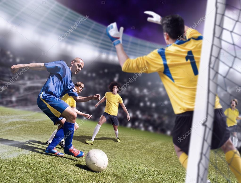 Футбол або футбол гравців з команди на полі — Фото від val th. Знайти схожі  зображення 87e8db5855b76