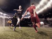 Fotografie fotbalové hry hráči