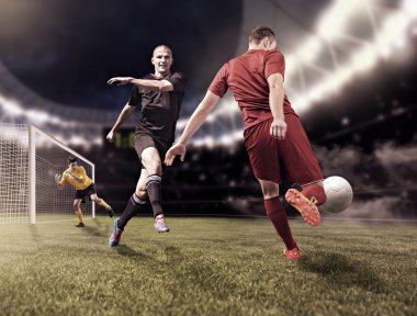 Soccer game players