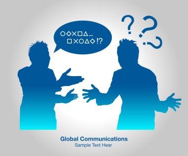 Global Communications, vector illustration