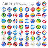 Fotografia vettore americano bandiera pulsante set