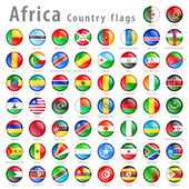 Photo Vector African National Flag Button Set