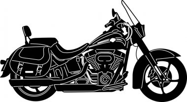 Motorcycle - Detailed silhouette