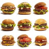 Fotografie sada hamburgery