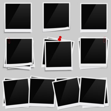 Set of photo frames, vector eps10 illustration stock vector