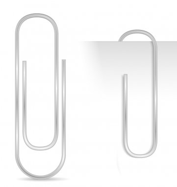 Paper clip, vector eps10 illustration stock vector