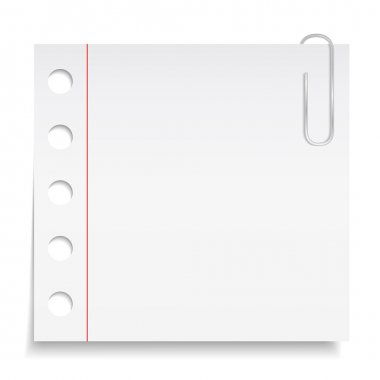 Paper note with clip